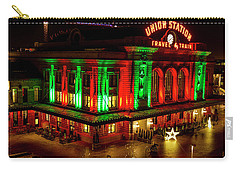 Holiday Lights At Union Station Denver Carry-all Pouch by Teri Virbickis