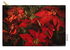 Holiday Painted Poinsettias Carry-all Pouch