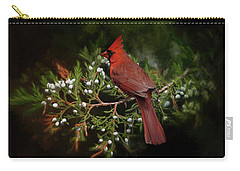 Holiday Red Cardinal Carry-all Pouch