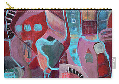Carry-all Pouch featuring the painting Holiday Windows by Susan Stone
