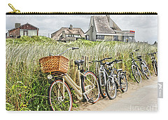 Holland - Bicycles Parked Along The Fence Carry-all Pouch