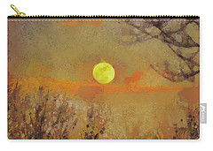 Carry-all Pouch featuring the mixed media Hollow's Eve by Trish Tritz