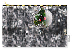 Carry-all Pouch featuring the photograph Holly Christmas Bauble  by Ulrich Schade