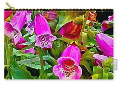 Hollyhock Detail Carry-all Pouch
