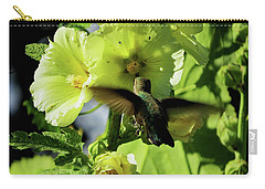 Hollyhock Hummer Carry-all Pouch