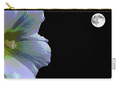 Hollyhock Moonlight Carry-all Pouch by Aliceann Carlton