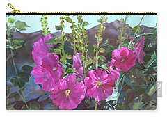 Hollyhock Necklace Carry-all Pouch