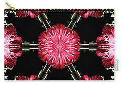 Hollyhock Pinwheel Carry-all Pouch by Aliceann Carlton