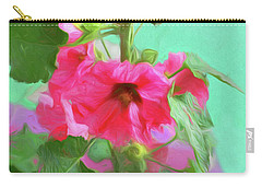 Carry-all Pouch featuring the photograph Hollyhocks - 2  by Nikolyn McDonald