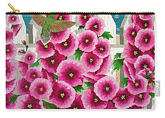 Hollyhocks And Humming Birds Carry-all Pouch
