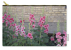 Hollyhocks Carry-all Pouch by Cynthia Powell