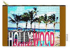 Hollywood Beach Fla Poster Carry-all Pouch