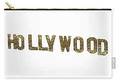 Hollywood Gold Glitter Sign Carry-all Pouch