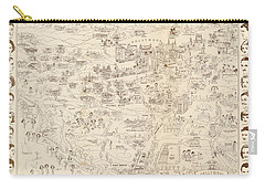 Hollywood Map To The Stars 1937 Carry-all Pouch by Don Boggs