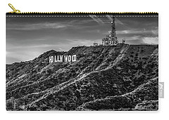 Hollywood Sign - Black And White Carry-all Pouch