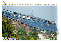 Hollywood Sign On The Hill 1 Carry-all Pouch by Micah May