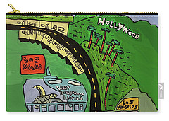 Hollywood Watertower Carry-all Pouch by Artists With Autism Inc