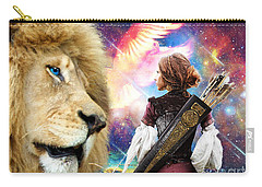 Carry-all Pouch featuring the digital art Holy Calling by Dolores Develde
