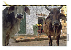 Carry-all Pouch featuring the photograph Holy Cow by Travel Pics