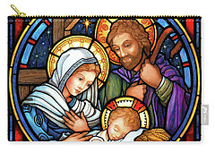 Holy Family Stained Glass Carry-all Pouch