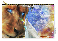 Carry-all Pouch featuring the digital art  Divine Perspective by Dolores Develde