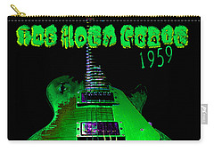 Carry-all Pouch featuring the photograph Holy Grail 1959 Retro Relic Guitar by Guitar Wacky