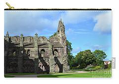 Holyrood Abbey Ruins In Edinburgh Scotland Carry-all Pouch by DejaVu Designs