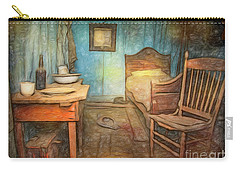 Carry-all Pouch featuring the photograph Homage To Van Gogh's Room by Craig J Satterlee