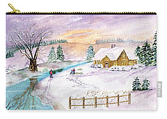 Carry-all Pouch featuring the painting Home For Christmas by Melly Terpening