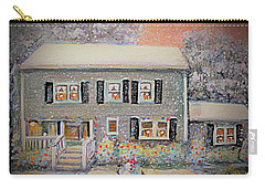 Home For Christmas Carry-all Pouch by Rita Brown