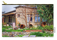 Carry-all Pouch featuring the photograph Home In Greece by Roberta Byram