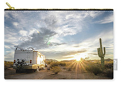 Carry-all Pouch featuring the photograph Home In The Desert by Margaret Pitcher