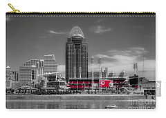 Carry-all Pouch featuring the photograph Home Of The Cincinnati Reds by Mel Steinhauer