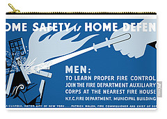 Carry-all Pouch featuring the painting Home Safety Is Home Defense by War Is Hell Store
