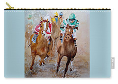 Carry-all Pouch featuring the painting Home Stretch by Marilyn Zalatan
