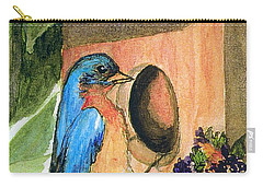 Carry-all Pouch featuring the painting Home Sweet Home by Gail Kirtz