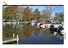 Hometown Marina In Autumn Carry-all Pouch