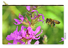 Honey Bee In Flight Carry-all Pouch