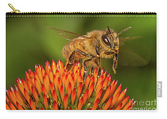 Honey Bee On Flower Two Carry-all Pouch by Randy Steele