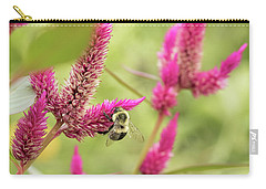 Honeybee Dining On Cockscomb Carry-all Pouch