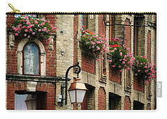 Honfleur Flower Boxes Carry-all Pouch by Joe Bonita