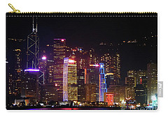 Hong Kong At Night Carry-all Pouch by Lynn Bolt