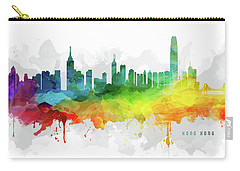 Hong Kong Skyline Mmr-chhk05 Carry-all Pouch by Aged Pixel