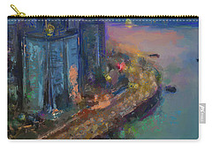 Hong Kong Skyline Painting Carry-all Pouch