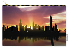 Hong Kong Skyline Sunset Chhk22 Carry-all Pouch by Aged Pixel