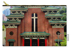 Carry-all Pouch featuring the photograph Hong Kong Temple by Randall Weidner