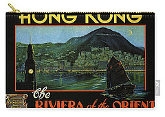 Hong Kong - The Riviera Of The Orient - Vintage Travel Poster Carry-all Pouch