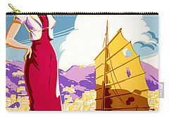 Hong Kong Vintage Travel Poster Restored Carry-all Pouch