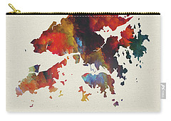 Hong Kong Watercolor Map Carry-all Pouch