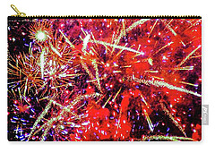 Carry-all Pouch featuring the photograph Honolulu Fireworks by D Davila